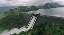 Cheruthoni dam India One of the three dams of the Idukki reservoir Shutters opened for the first time in  years due to excessive rain