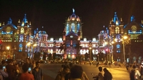 Chhatrapati Shivaji Railway Terminus Mumbai  illuminated for Diwali PhotographerYogesh Patil
