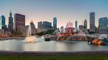 Chicago and Buckingham Fountain