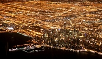 Chicago and its incredible night-time sprawl