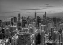 Chicago as seen from the skydeck of Willis aka Sears Tower