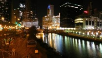 Chicago at night oc x