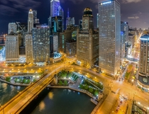 Chicago at night x