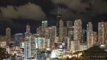 Chicago cityscape at night