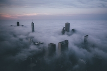 Chicago covered in Fog -- by Michael Salisbury  x