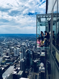 Chicago IL from the Skydeck on the Willis Tower