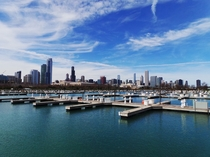 Chicago Illinois skyline from Northerly Island