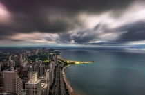 Chicago Illinois up Lake Shore Drive  by John Harrison