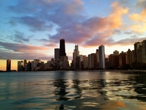 Chicago near sunset xpost from rpics