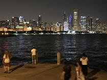 Chicago Night From Northerly Island