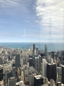 Chicago Northside from the sears tower top floor