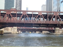 Chicago River water taxi views