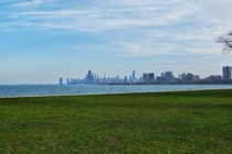Chicago skyline from Montrose Park
