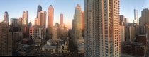 Chicago skyline from my apartment at sunset