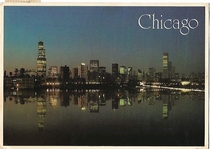 Chicago Skyline Postcard from the s