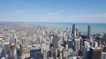 Chicago view from the Skydeck