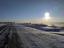 Chilly Alberta drive home -