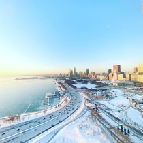chilly chicago sunrise