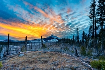 Chilly sunset at Mt Washington OR