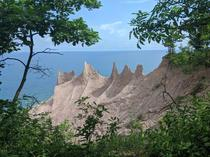 Chimney Bluffs State Park on Lake Ontario NY USA