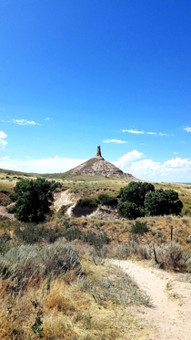Chimney Rock Nebraska USA OC  Landmark on the old Oregon Trail