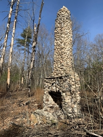 Chimney still standing cabin long gone Taken during a hike back in March