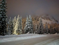 Christmas Eve in Snoqualmie Pass WA x