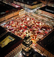 Christmas Market held last year at the Altmarkt Square in Dresden Saxony Germany