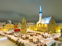 Christmas market in Tallinn Estonia