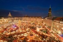 Christmas Market Striezelmarkt in Dresden Germany