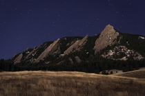 Christmas night at the Flatirons Boulder CO