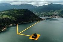 Christo The Floating Piers - Lake Iseo Italy