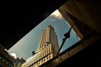 Chrysler building from the street