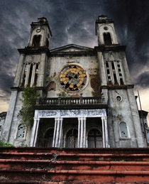 Church in Costa Rica destroyed by an earthquake