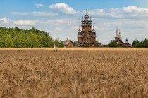 Church in Holy Mountain National Park Ukraine  by Balkhovitin
