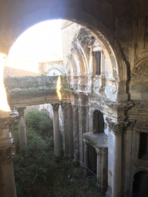 Church in Italy damaged from WWII bombings