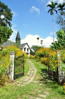 Church in Mawlynnong village Meghalaya state India