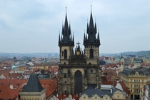 Church of our lady before Tyn Old Town Square Prague Czech Republic