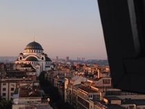 Church of Saint Sava and the city around it Belgrade Serbia