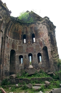 Church of the Redeemer in the deserted medieval city of Ani Turkey