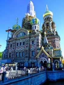 Church of the Saviour on Blood St Petersburg Russia  x