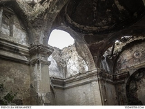 Church of Tiermas abandoned village in Spain the vault is no more it collapsed