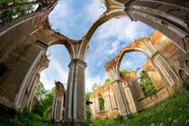 Church Ruins in Jalowka East Poland