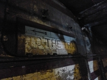 Churchills secret station - Down Street Tube Station closed in  converted to a bunker during the war and gently decaying since big album with captions in comments