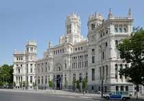 Cibeles Palace in Madrid Spain