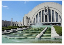 Cincinnati Union Terminal- The Art Deco building opened  described at the time as a Temple to Transportation by the press The railroad station was restored -