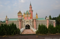Cinderella Castle at the abandoned fake Disneyland called Nara Dreamland taken in
