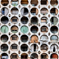 Circle Of Trust - The facade of a residential building in Beirut photo by James Kerwin