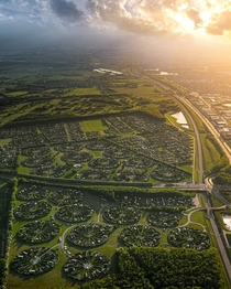 Circular Community suburb of Copenhagen Denmark Photographer Henry Do