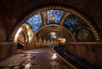 City Hall Station - a decommissioned terminal in the NYC subway system